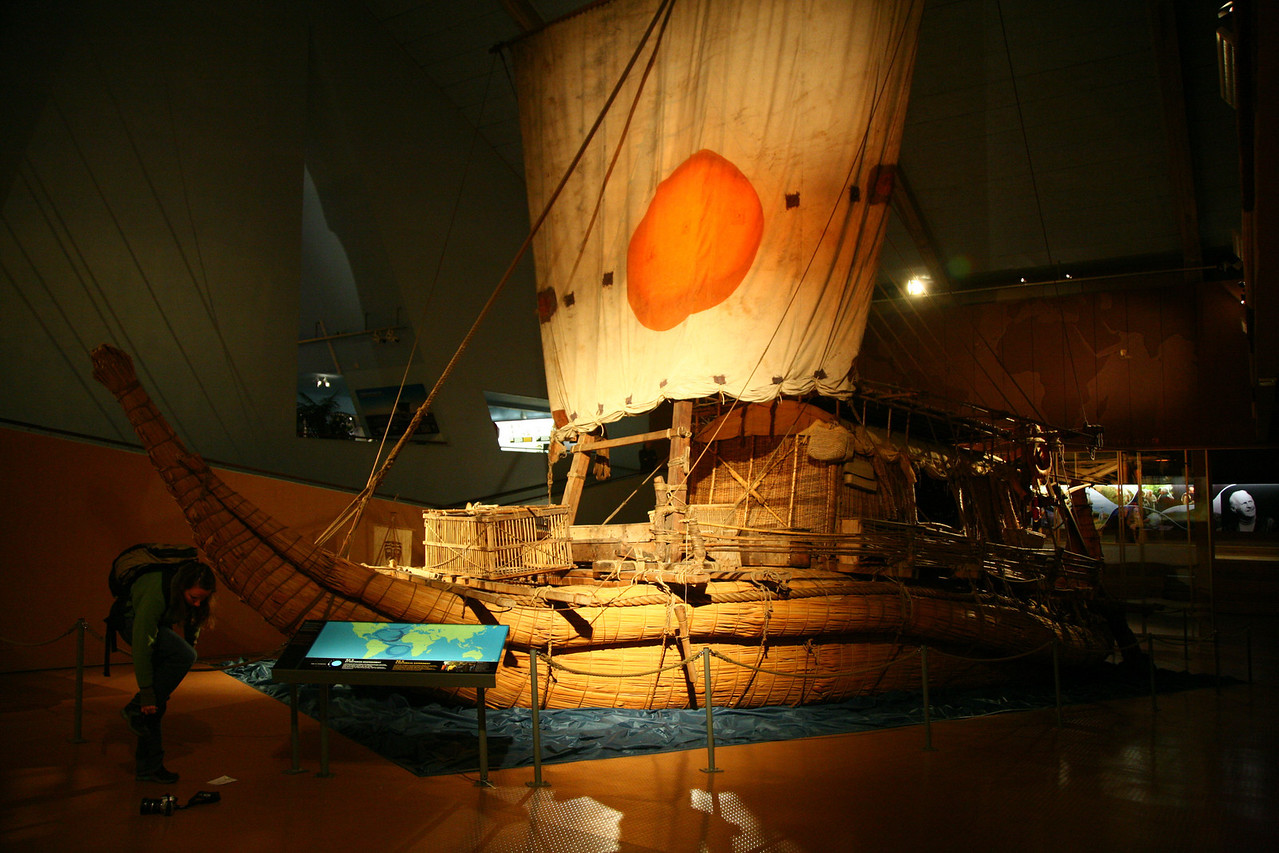 "Then on to the Kon Tiki museum where Thor Hyerdal's various craft were shown. The Ra II (aka the one that didn't sink!) <a href=""http://en.wikipedia.org/wiki/Thor_Heyerdahl#The_Boats_Ra_and_Ra_II"">http://en.wikipedia.org/wiki/Thor_Heyerdahl#The_Boats_Ra_and_Ra_II</a>"