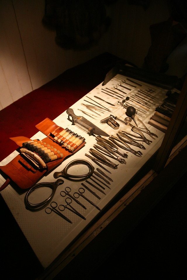 Some surgical tools. Gulp.