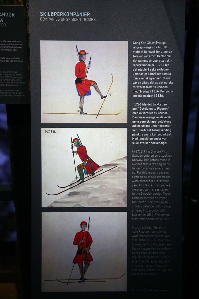 The correct way to ski if you're a skiing soldier in the 1700's