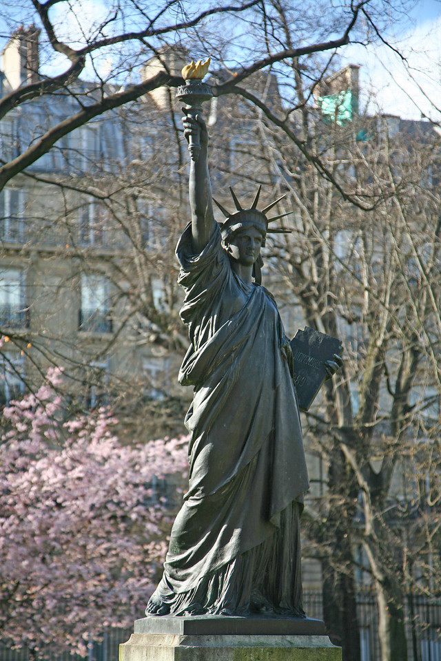 One of the two statue of liberties.
