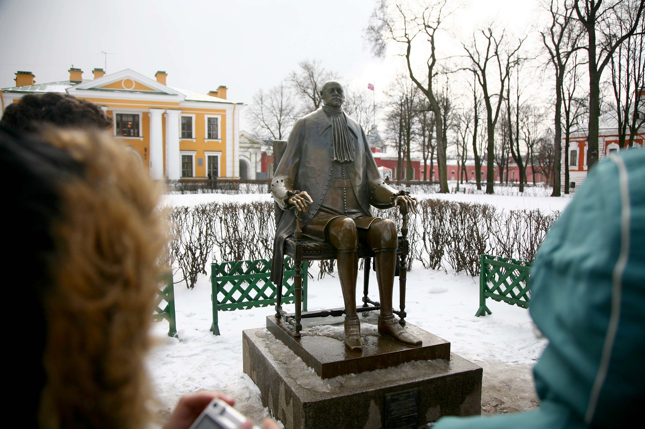 A statue of the Peter the Great.
