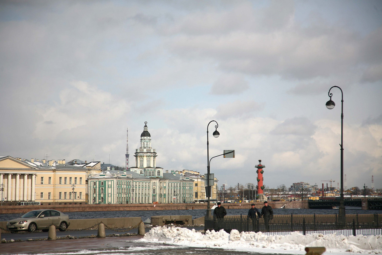 Then you could look across the street to one of the most famous St. Petersburg landmarks, the Hermitage.