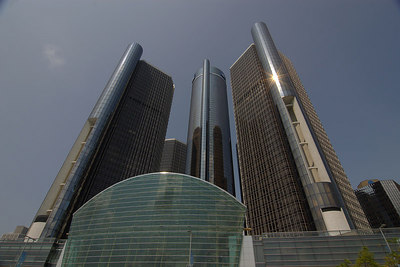 Detroit renaissance center, now called the GM head quarters.