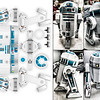 Papercraft R2D2 created by Andre Vandal