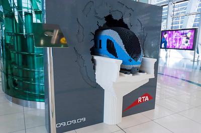 Lego style of the Metro in Al Rashidya Station