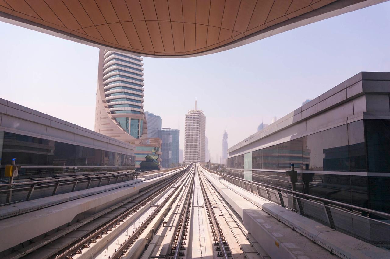 Leaving Al Jafiliya Station