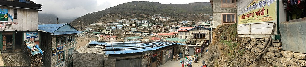 Namche bazaar panoramic view