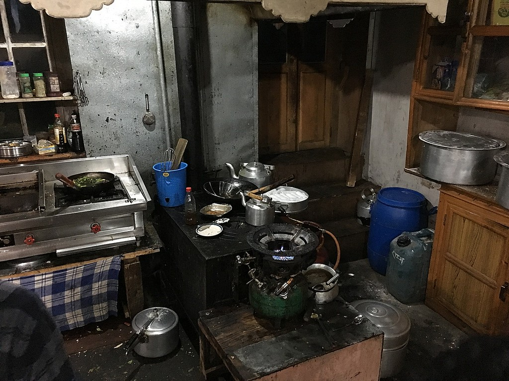Kitchen in one of the tea houses