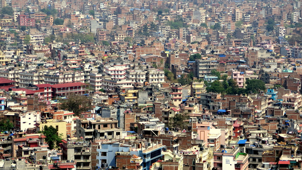 View of Kathmandu city from Swayambunath temple