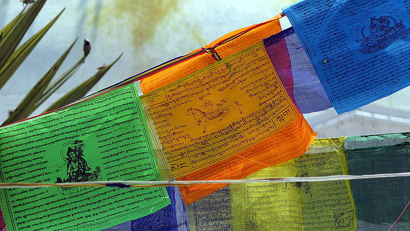 Prayer flags, Boudhanath temple