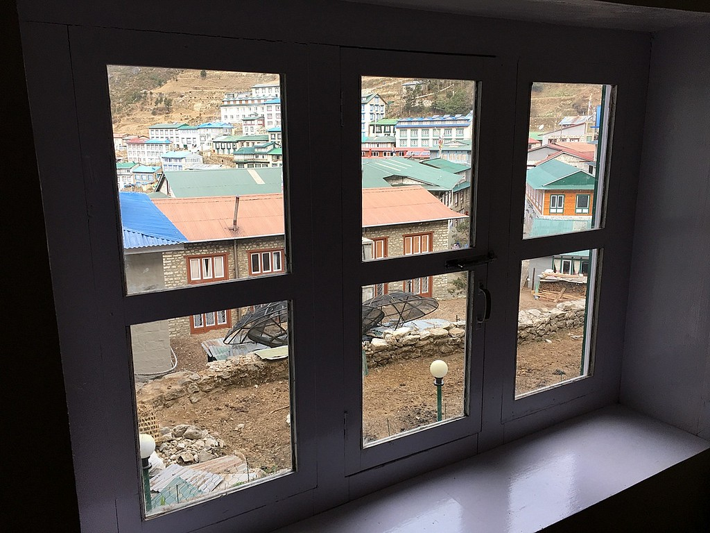 Namche bazaar from the Green Tara hotel