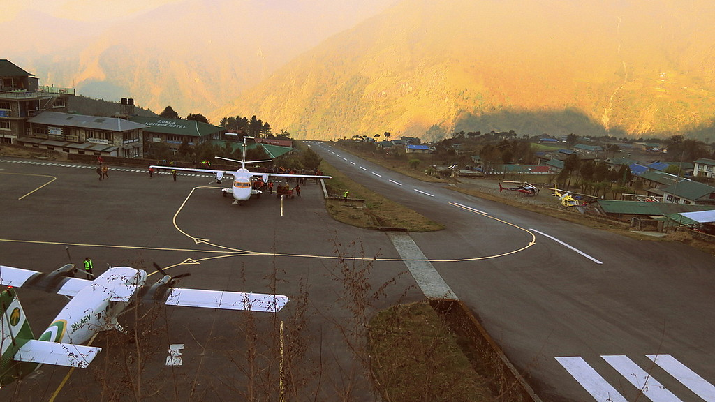 Lukla airport - one of the most dangerous airports in the world
