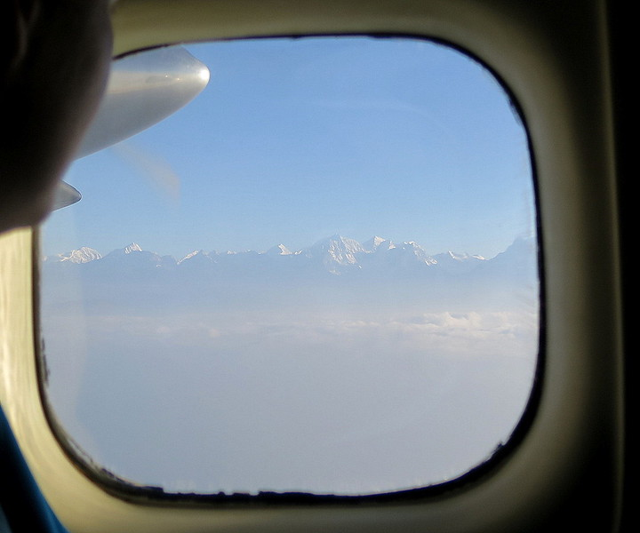 Flight to Lukla - View of the Himalayan range
