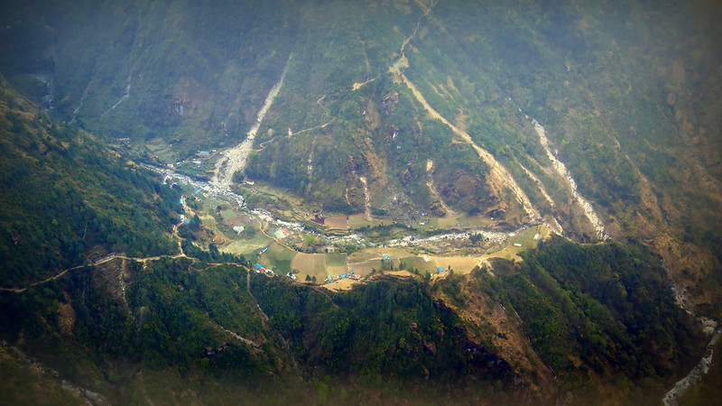 View from the Lukla flight