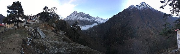 Tengboche panoramic view