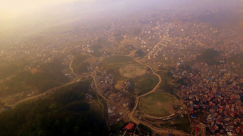 View from the flight from Kathmandu to Lukla