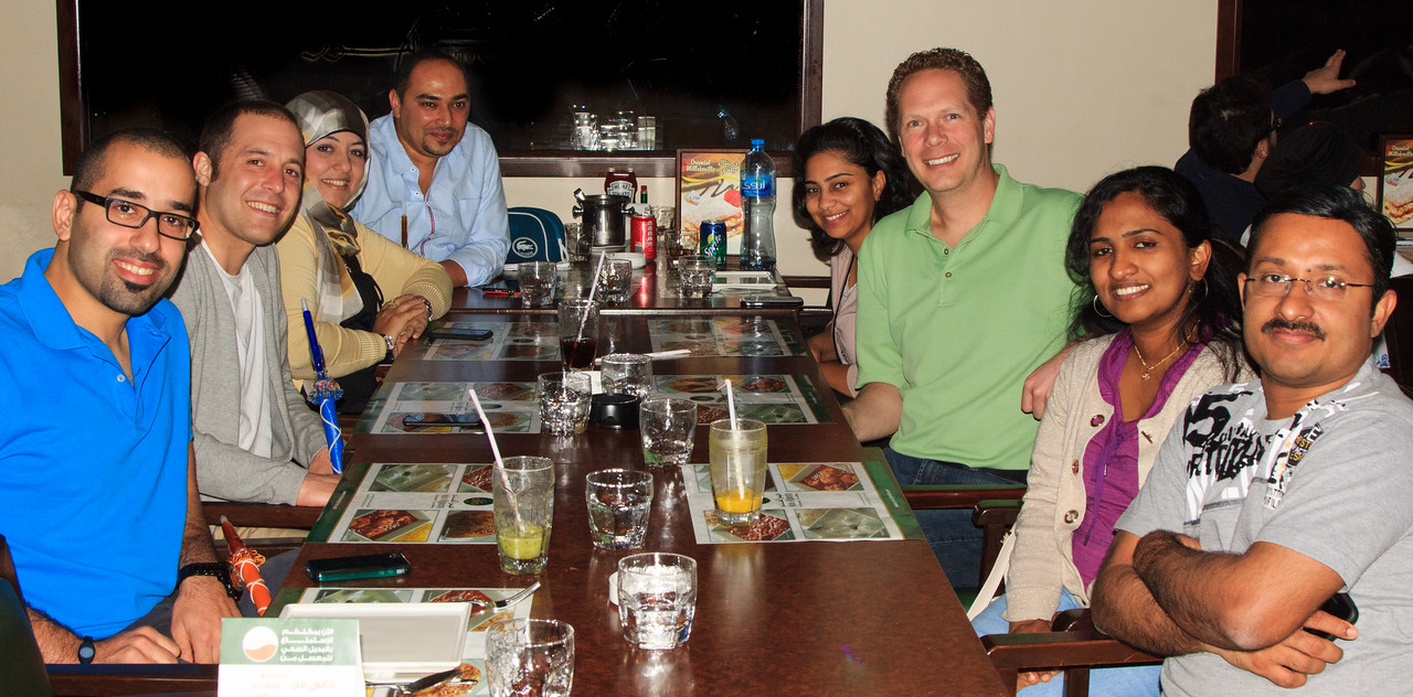 Jannik and Scot with Enas and the IES team in Kuwait
