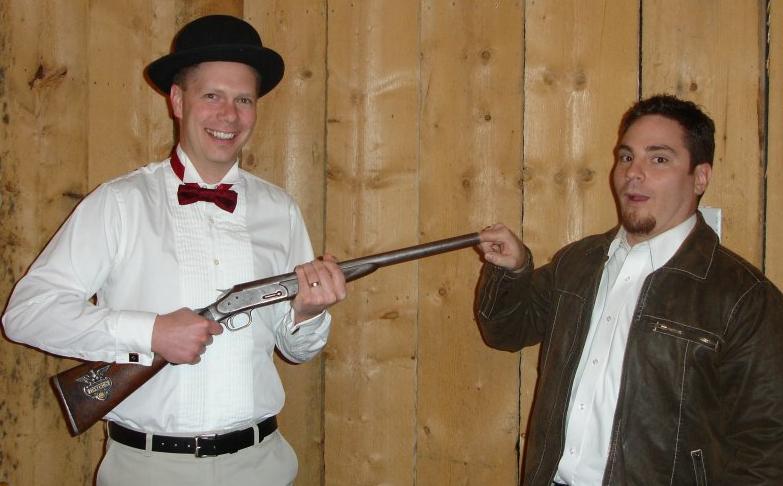 Scot and Robert Rallison, EarthSoft Utah Christmas Party 2008
