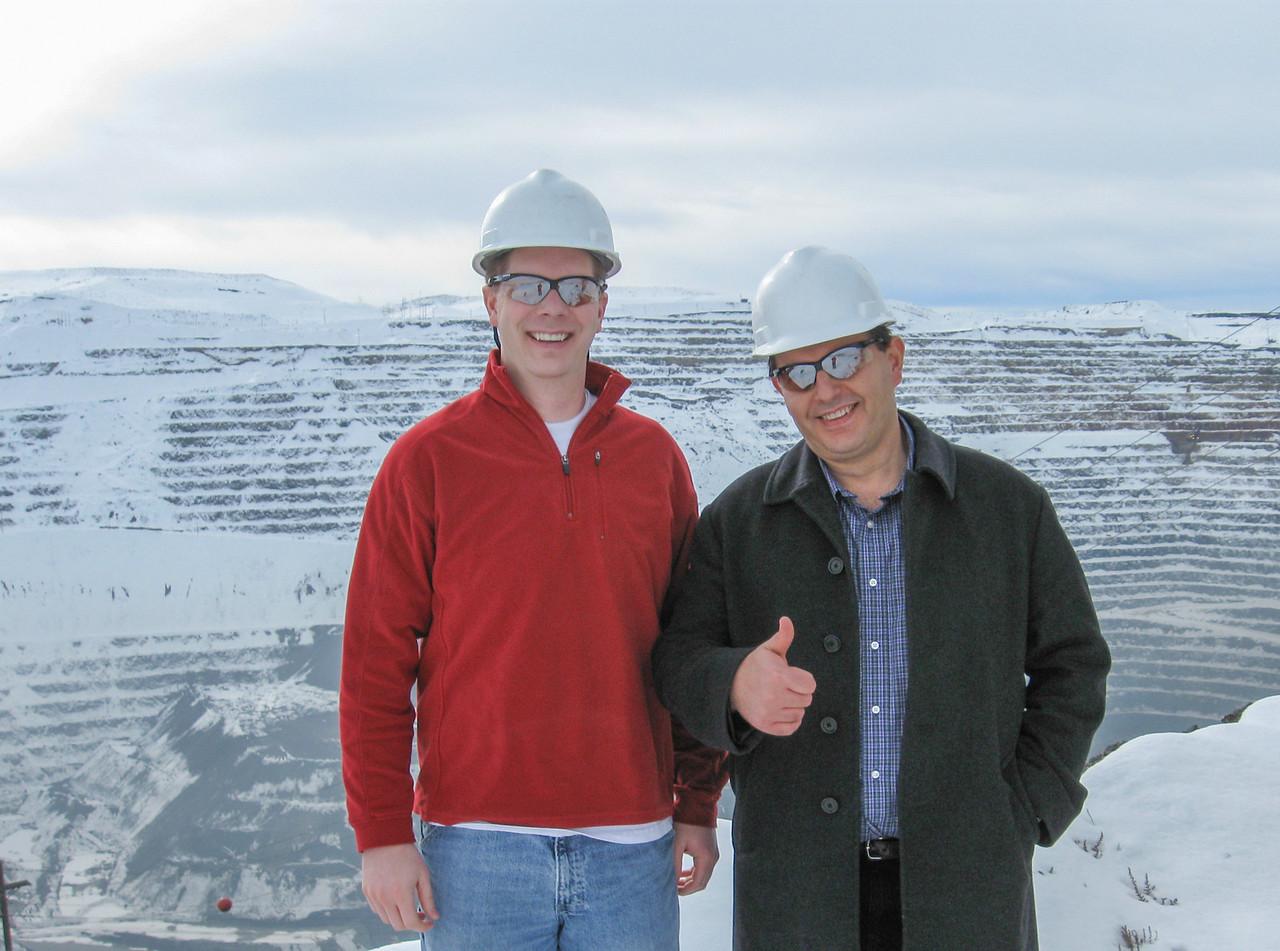 Scot and Alek Hage at Barrick's Goldstrike mine, Nevada