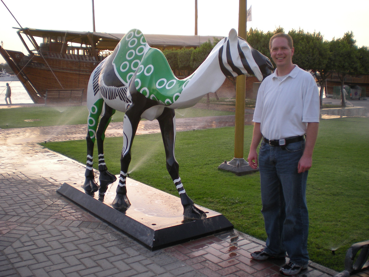 Scot and one of Dubai's camels