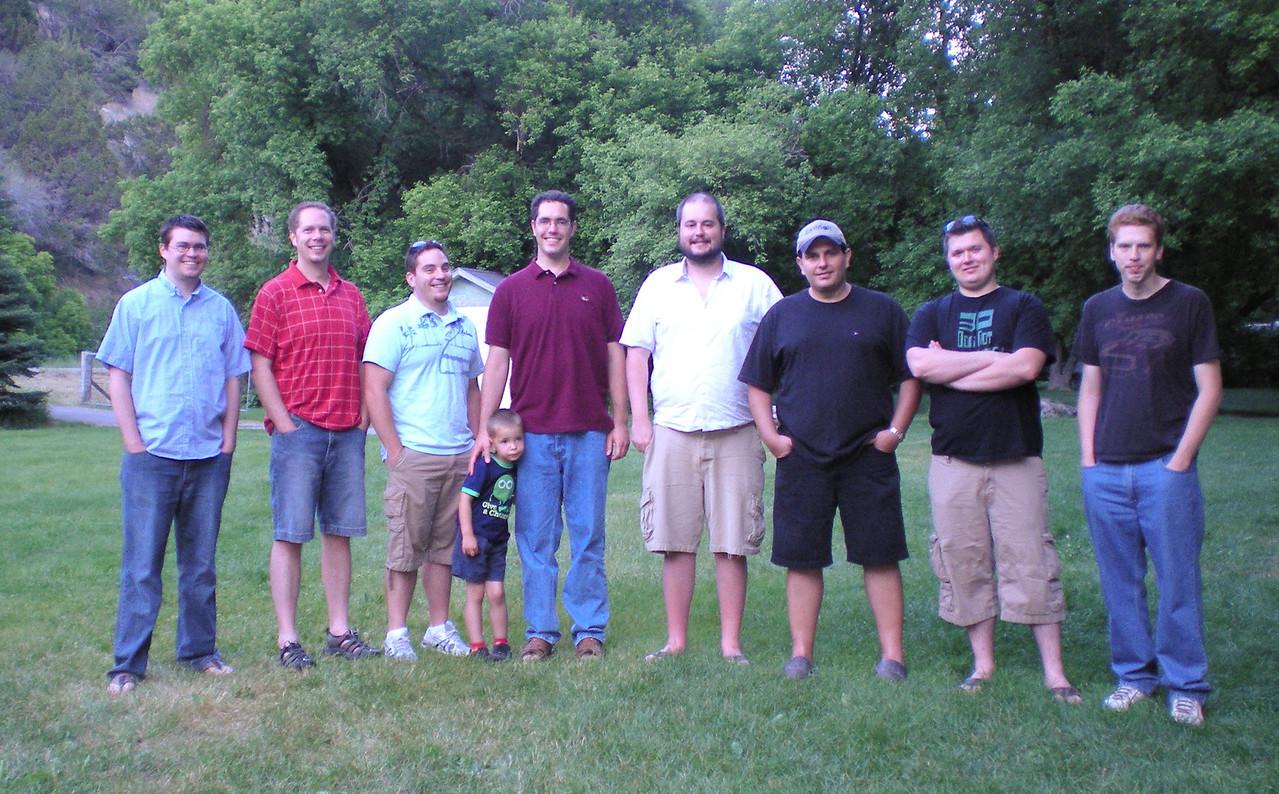 L>R: Michael Brown, Scot Weaver, Robert Rallison, Mat Weaver, Jarom Jones, Alek Hage, Michal Janyst, Bryce Mathews