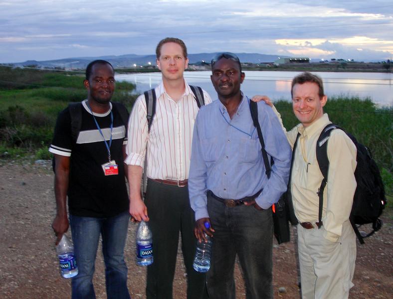Evans, Scot, Delphinus, John at North Mara, Tanzania