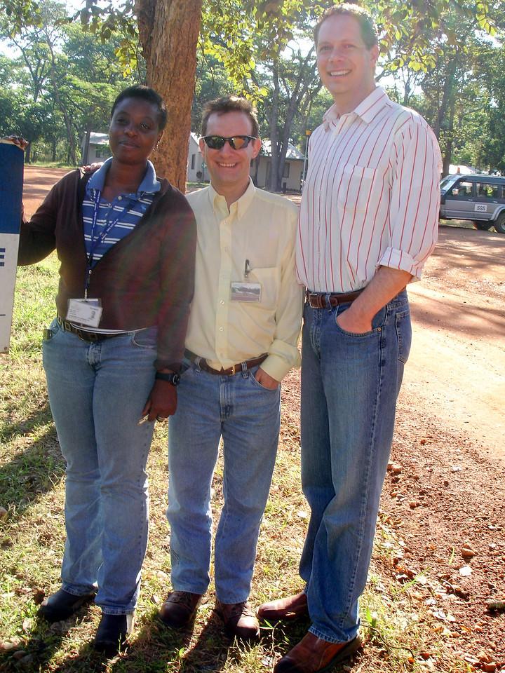 Martha, John, and Scot at Tulawaka, Tanzania