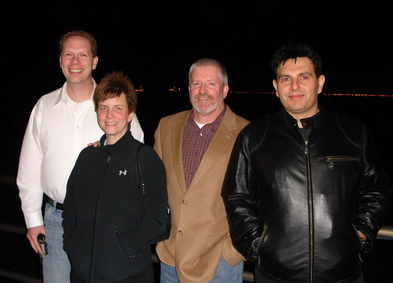 Scot, Ruth Forman, Dennis Callaghan, and Alek Hage in San Pedro, CA