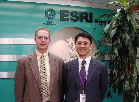 Scot and Paul Tsui at ESRI Hong Kong