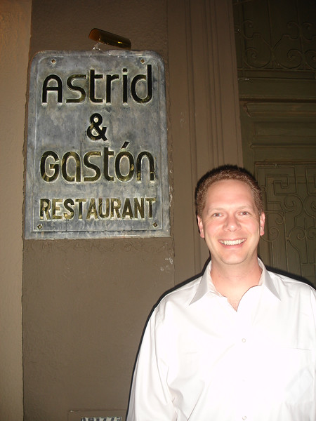 Scot at Astrid y Gaston, Lima, Peru