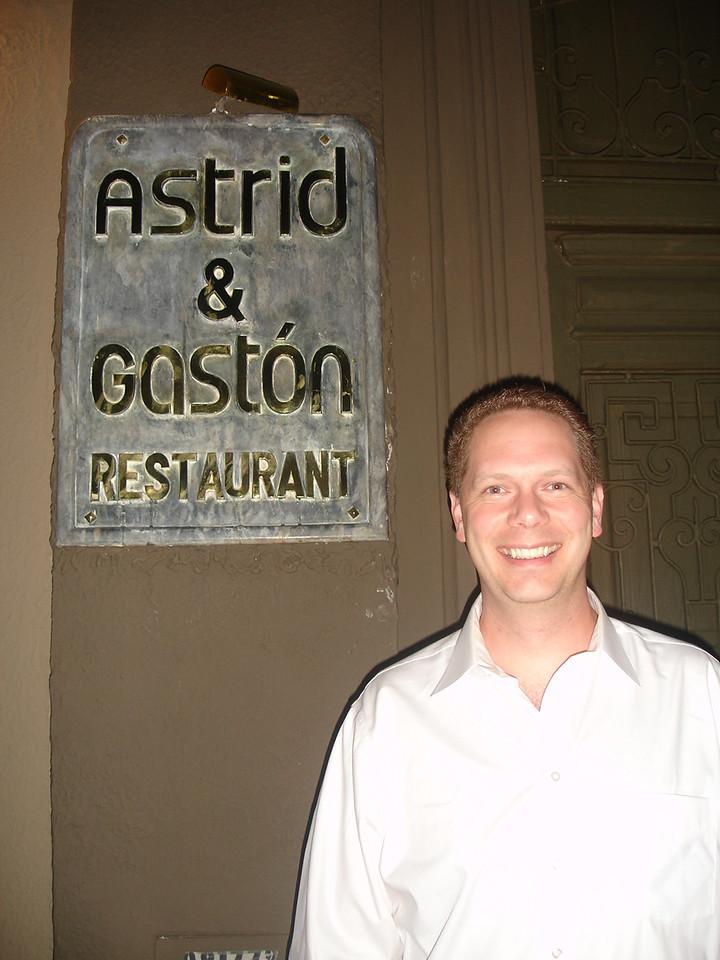 Scot at Astrid y Gaston, Lima, Peru