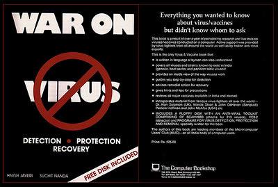 """War on Virus"" Book Cover. A book by Harsh Javeri & Suchit Nanda   http://www.waronvirus.org"