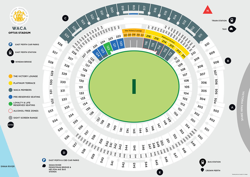 WACA memebrs seating for Optus Stadium