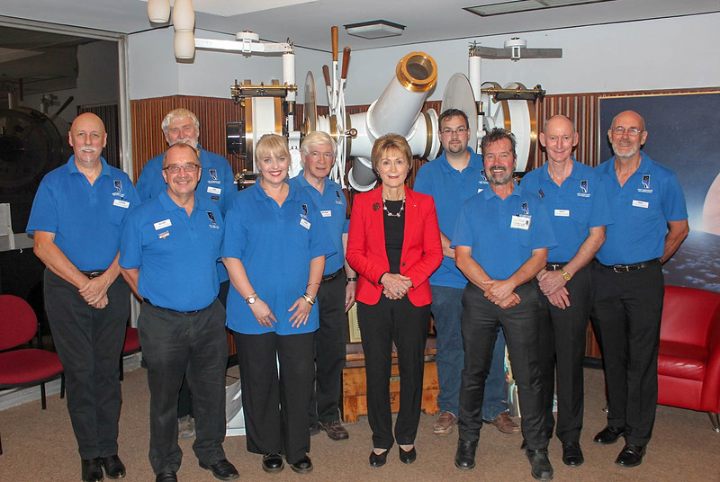 Governor Kerry Sanderson visits Perth Observatory