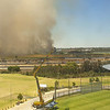 Day 2 First Test Aus v NZ (Fire near Belmont Pk)