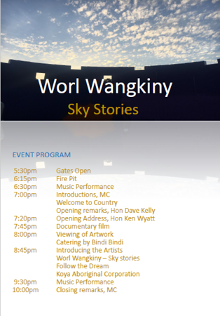 Worl Wangkiny opening ceremony at Perth Observatory 7/3/2020