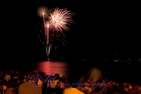 We went to the fireworks in Hudson this year