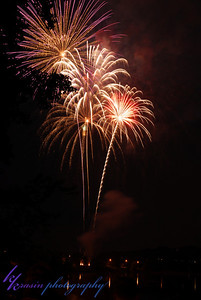 On July 3rd, we watched the fireworks from Lakefront Park in Hudson, WI
