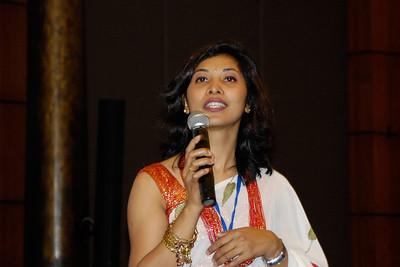 Shikha Shrestha, the MC of the conference.