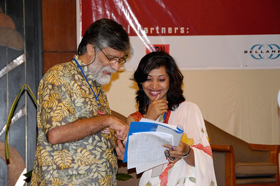 Shahid Akhtar & Shikha Shrestha finding a lighter moment.