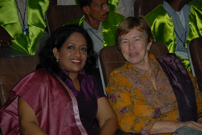 "Thanks Richard Stone for this picture: Anu & Betty at the book release of ""Reaching the Unreached"" and ""Transformative Impact of ICT"" and 6th Convocation of Jamsetji Tata National Virtual Academy (NVA) Fellows, 4th December, 2009 organized by M S Swaminathan Research Institute (Chennai) at CLRI, Chennai, Tamil Nadu, India."