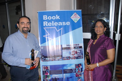 "Thanks Richard Stone for this picture: Anu & Suchit at the book release of ""Reaching the Unreached"" and ""Transformative Impact of ICT"" and 6th Convocation of Jamsetji Tata National Virtual Academy (NVA) Fellows, 4th December, 2009 organized by M S Swaminathan Research Institute (Chennai) at CLRI, Chennai, Tamil Nadu, India."