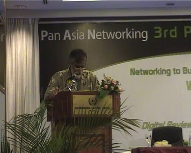 Editor Shahid Akhtar delivering his address. Short video clip of Lauch of DirAP - Digital Review of Asia Pacific 2009-2010 edition of the book. The launch was at IDRC's PAN ALL 2009 CONFERENCE in Penang, Malaysia on 11th June, 2009.