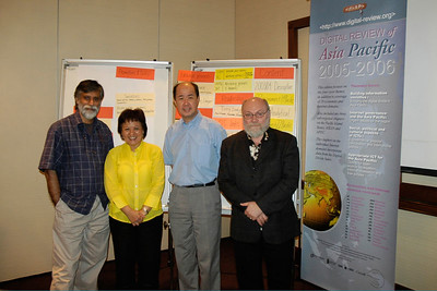 Shahid, Maria, Chin, Claude-Yves at the DirAP Meeting in KL, Malaysia