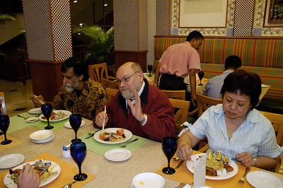 Lunch at Hotel Renaissance, Kuala Lumpur, KL, Malaysia at the DirAP (Digital Review of Asia Pacific) review meeting 11 - 12 April 2005.
