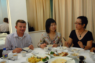 Danny, Jian and Patricia enjoying lunch.
