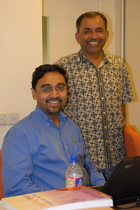 Rajesh & Sriramesh posing for a shot.