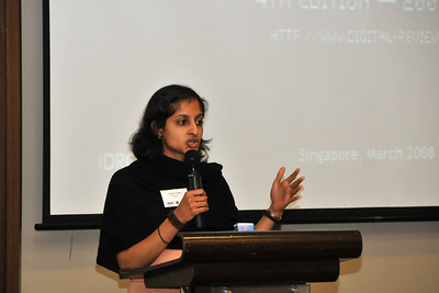 Chaitali Sinha at the meeting of editors of Digital Review of Asia Pacific (DirAP) 2009-10. Siloso Resort, Singapore 3rd March, 2008.