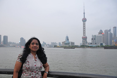 Anu at The Bund, Shanghai, China.
