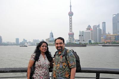 Anu & Suchit in Shanghai, China.